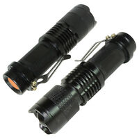 2-pack Tactical Cree Led Flashlight 300 Lumen Ultra Bright Tiny Torch 3 Modes