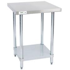 """Regency 24"""" X 24"""" 304 Stainless Steel Commercial Work Prep CHOP Table 18 Gauge"""