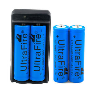 4PC-UltraFire-3000mAh-18650-Battery-3-7v-Li-ion-Rechargeable-Batteries-Charger
