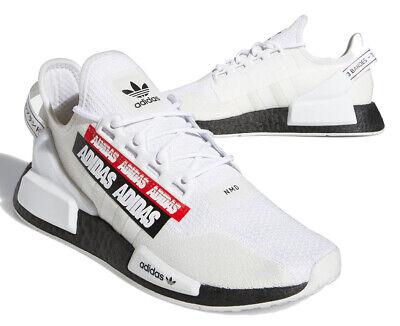 New adidas Originals NMD R1 V2 Mens sneaker casual shoes white black red 8-12 | eBay