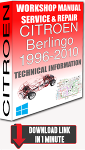 citroen berlingo service repair manual pdf