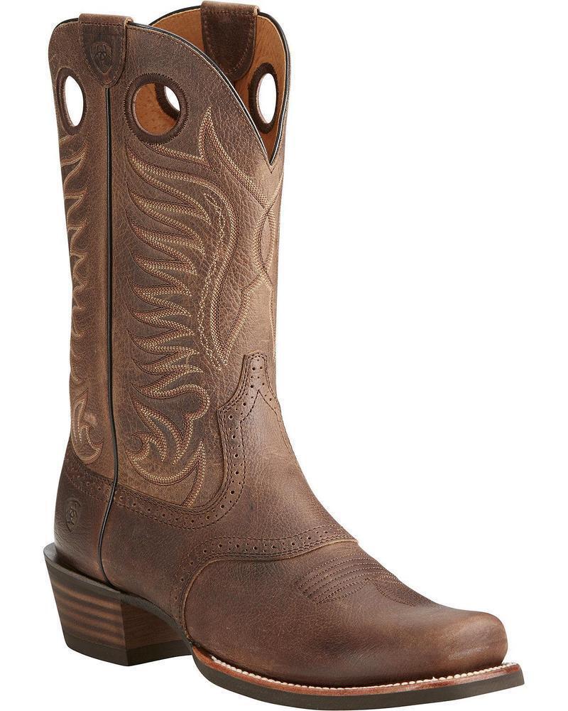 ARIAT Men's Heritage Hotshot Brown Cowboy Western Square Toe Boots 10021693 NIB