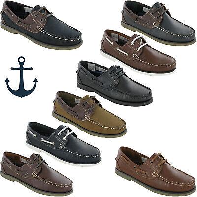 Ausdauernd Dek Boat Moccasin Deck Leather Shoes Mens Casual Loafers Lightweight Uk 6-12