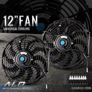 Honesty Black Universal Electric Radiator Slim Fan Push/pull 12v Mounting Kit 14 Inch