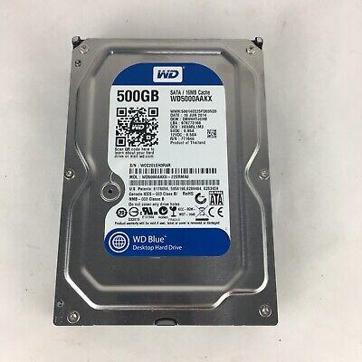 LOT OF 5 WD 500GB 7200 RPM SATA 6 Gb//s 16MB 3.5 Inch Hard Drive WD5000AAKX