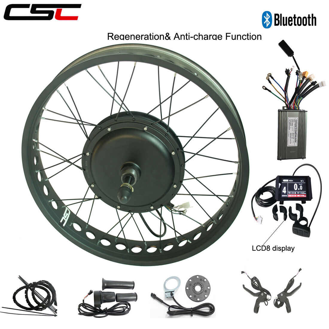 Ebike Motor Wheel Conversion Kit 20  26 48V 1000W 1500W Electric Snow Fat Bicycle  up to 42% off