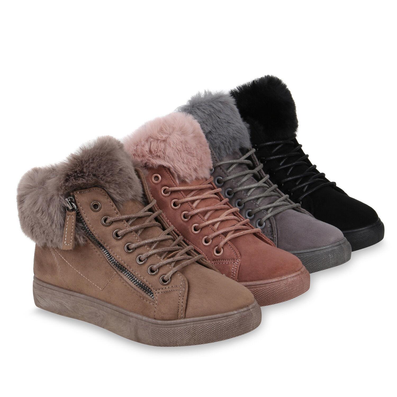 Damen Winter Sneaker High Warm Gefütterte Winter Damen Turn Zapatos  Kunstfell 820172  Zapatos 06b108
