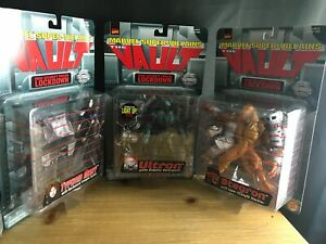 SET-OF-3-TOY-BIZ-1998-MARVEL-THE-VAULT-NEW-FIGURES-STEGRON-ULTRON-TYPHOID-MARY