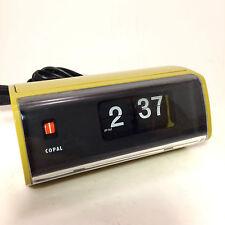 Vintage 1970's Copal Green Brown Flip Clock Model 222 Works