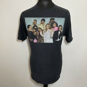 Clueless Men's Black Graphic Movie Faded Print Alicia Silverstone T Shirt Large