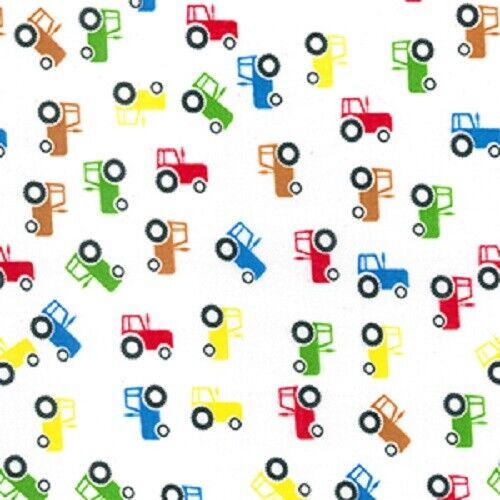 Tela Polycotton tractores 44 Pulgadas//110cm FQ medio metros Chico Camión De Granja