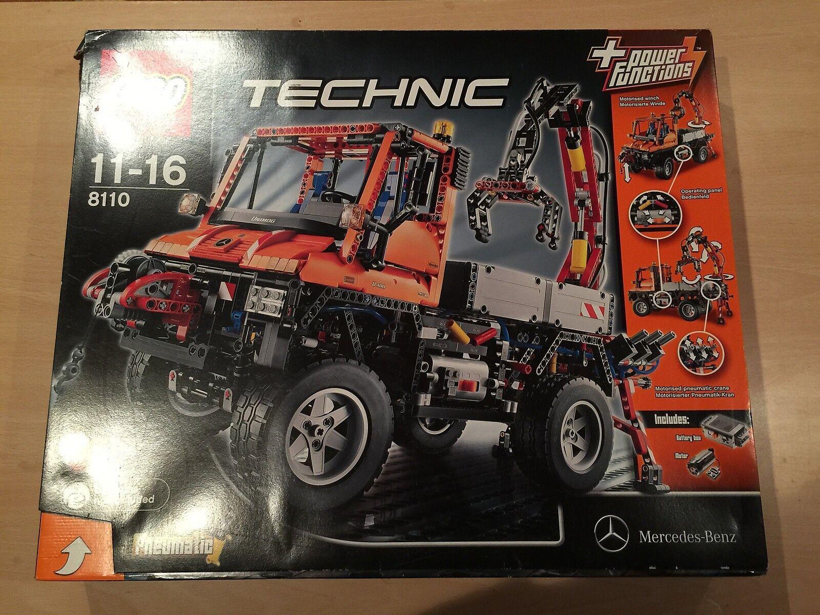 Lego Technic 8110 Unimog mit Power Funktion OVP BA (passt zu 8043 8258 42030)