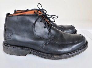 Uk B5 Hombre 5 de Negro W 7 elegante cuero Timberland botines zapatos Up Lace xO7qndwv