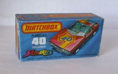 Repro box Matchbox Superfast nº 40 guildsman Streaker