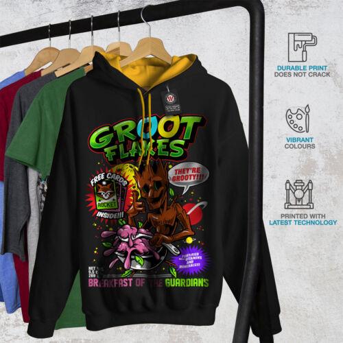 cappuccio New Black cappuccio con Felpa Flakes Men Groot oro Comic 5UYB0