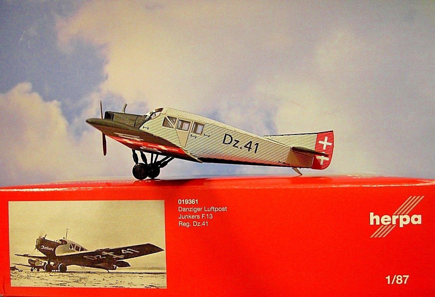 Herpa Wings 1 87 Junkers F.13 Danziger Danziger Danziger Correo Aéreo Dz , 41 019361 7721f0