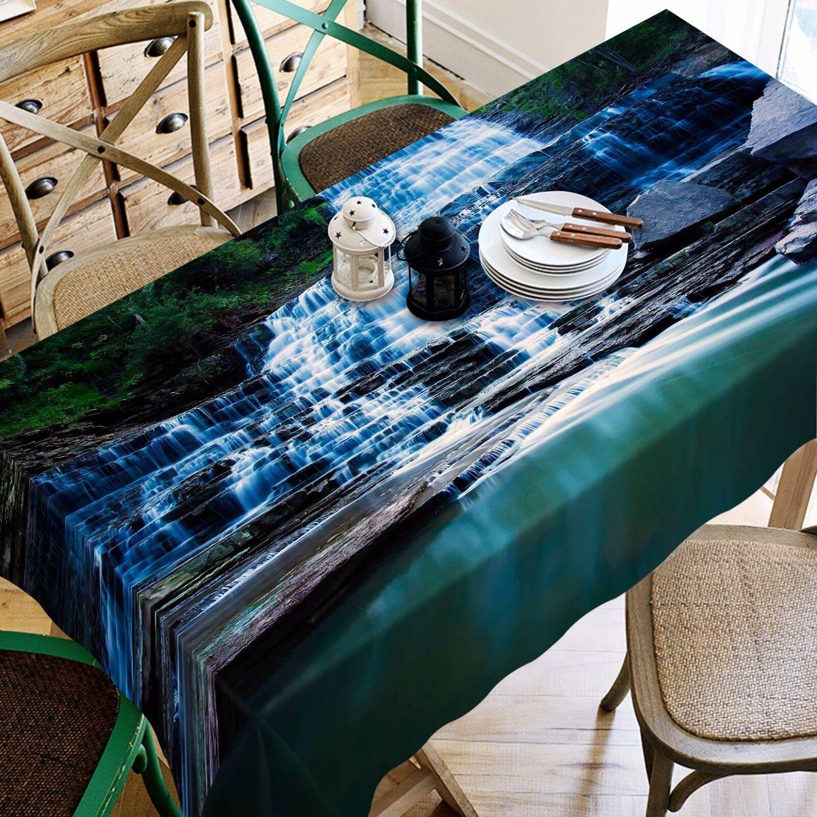 3D Steps Lake Tablecloth Table Table Table Cover Cloth Birthday Party AJ WALLPAPER UK Lemon a39c44
