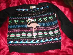 image is loading merry christmas holidays pink flamingo 034 feliz navidad