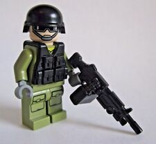 Lego Custom SUPPORT GUNNER Modern Combat Minifigure Brickarms M249 Army Military