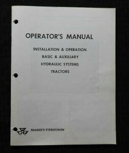 1965-Massey-Ferguson-Mf-25-35-50-65-2135-3165-Traktor-Hydraulik-Zubehoer-Manuell
