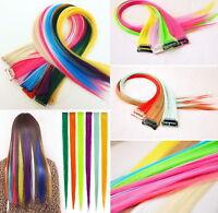 "4 Straks 22"" High Light Streaks CLIP IN HAIR EXTENSIONS Chose colours"