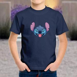 0bab1561418 Disney Lilo Stitch Funny Cute Laughing Face Emoji Kids Boys Youth ...