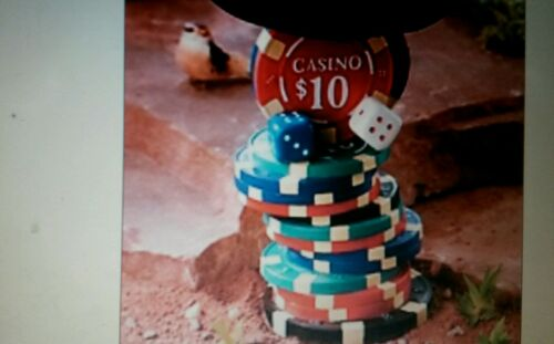 roulette wheel bird bath LAS VEGAS IS CALLING OUT TO THE BIRDS ROLL THEM HIGH NW