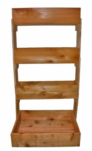 Cedar Vertical Wall 4 Tier Raised Planter Bed ....New FREE SHIPPING !!