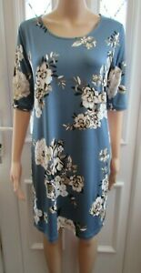 NEW-BLUE-FLORAL-SHIFT-DRESS-SIZE-SMALL-10-12-YAMAMAY