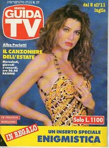 rivista NUOVA GUIDA TV ANNO 1992 NUMERO 27 ALBA PARIETTI | eBay