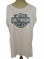 Harley-davidson Womens Small T-shirt Top Pink Sparkle Short Sleeve 99191-vw