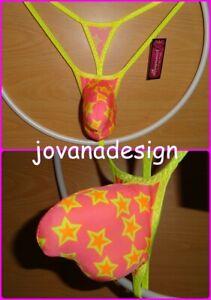 Velvet print XS-XL 1 jovanadesign 3D String Contour Pouch Black Mesh See Thru