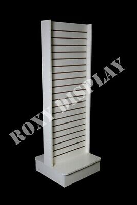 Slatwall Unit Tower White Knock down Display Store Fixture #SC-SWT//W