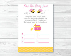 photograph about Baby Food Game Printable called Info concerning Crimson Bumble Bee Status That Little one Meals Child Shower Video game Printable