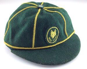 Vintage-Large-Canadian-Green-Felt-Wolf-Cubs-Boy-Scout-Uniform-Cap-and-Badge-K502