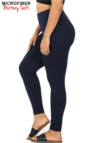 Chaussures femme taille plus doux stretch taille haute Leggings Workout Yoga Pantalon Fitness