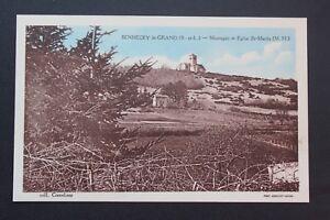 Tarjeta-postal-CPA-SENNECEY-LE-GRAND-Montana-y-de-la-iglesia-St-Martin