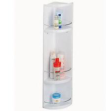 Croydex White Corner Wall Hung 3 Tier Plastic Bathroom Storage Unit Cabinet