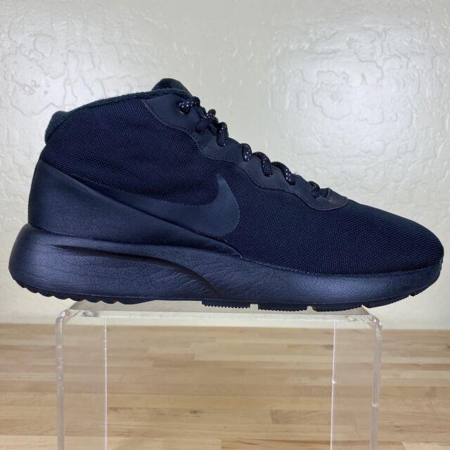 Nike Tanjun Chukka Sneaker Water Resistant Mens Size 9.5 Black / Anthracite