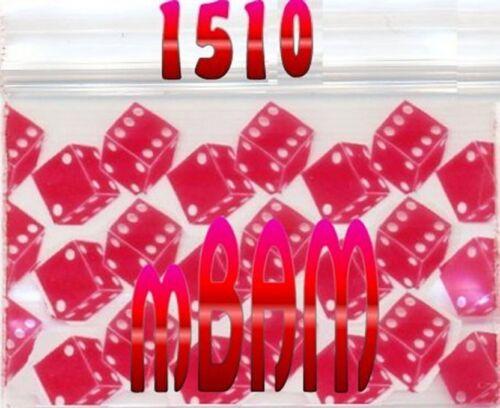 "100 PACK RED DOUBLE DICE 1510 Apple Ziplock Baggies 1.5X1.0/"" Mini POLYBAGS"