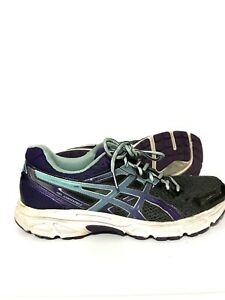 Asics-Gel-Contend-2-Womens-Running-Shoes-Sneakers-Gray-Purple-Blue-Size-10-5