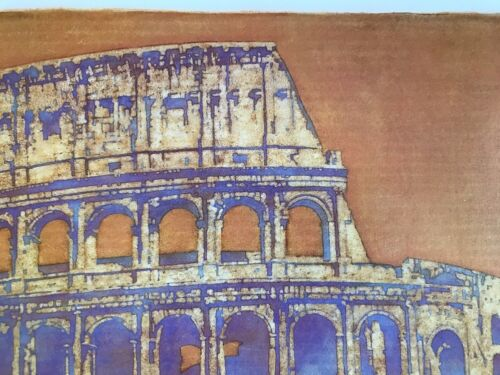 Lithograph Rome  Colosseum Oil  Painting  Hand Signed By Frank Steiner Artist