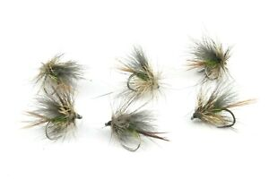 Olive-Scruffy-CDC-Sedges-Barbless-Hooks-Trout-Grayling-Dry-Flies-Fly-Fishing