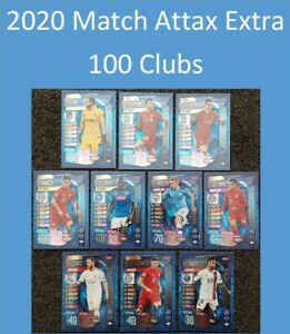 30-OFF-2020-UEFA-Champions-League-Soccer-Cards-Match-Attax-Extra-100-Clubs