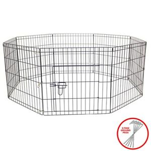 AVC-Dog-Puppy-Rabbit-Foldable-Playpen-Enclosure-Indoor-Outdoor-Cage-Small