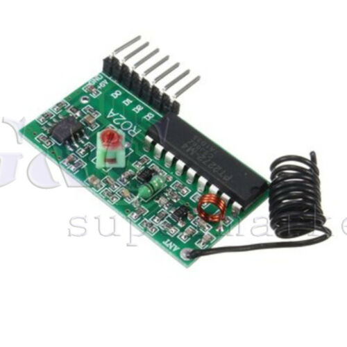 IC 2262//2272 4 CH Key 315MHZ//433Mhz Wireless Remote Control Receiver module