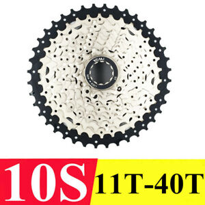 Nickel Plated Mountain Bicycle Freewheel Cassette With 10 Speed Cycling Flywheel
