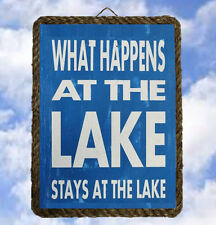 Lake 4 Lake House boat Gifts Wall Decor Art Prints Plaques lalarry ventage
