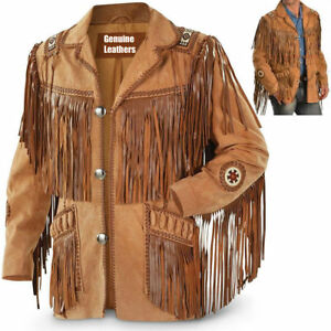 Men-Brown-Suede-Western-Style-Cowboy-Leather-Jacket-With-Fringe-amp-Bread-Work