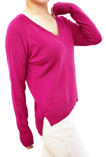 Women Pullover Sweater Top Jumper Soft Knit V Neck Fitted or Loose Cardigan